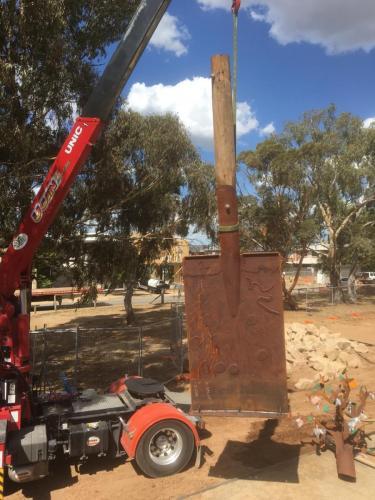 Installing Tree Shovel