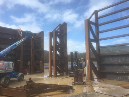 Coffer Dam Steelwork